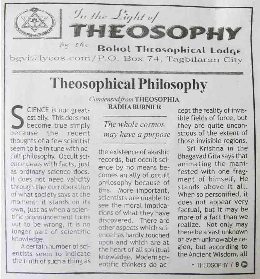 Theosophical column